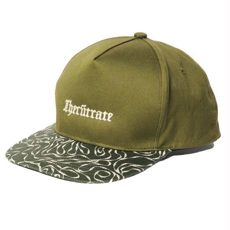 CUTRATE  2 TONE SNAP BACK CAP OLIVE CR-18SS068