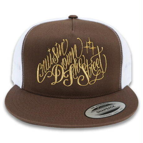 "KUSTOMSTYLE   ""CRUISIN DOWN THE STREET"" MESH CAP BROWN"