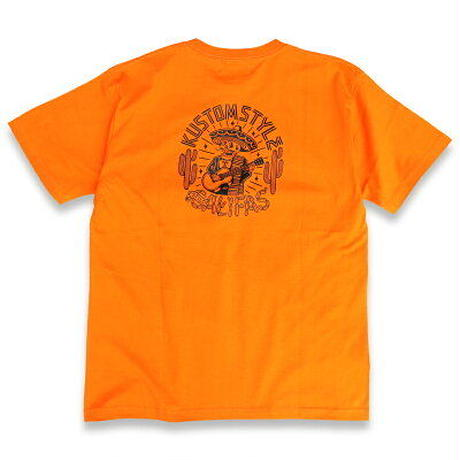 "KUSTOMSTYLE ""CALIFAS "" TEE  ORANGE"