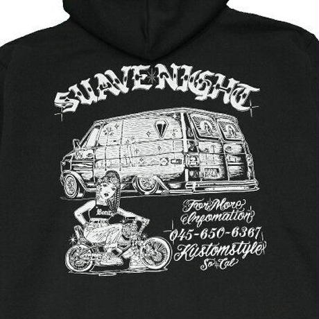 "KUSTOMSTYLE  ""SUAVE NIGHT"" PULLOVER HOODIE BLACK"