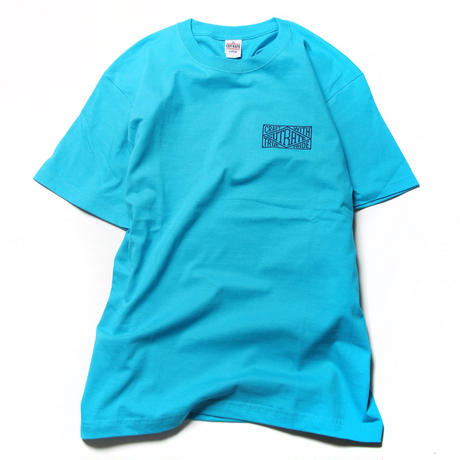 CUTRATE BOX LOGO T-SHIRT TURQUOISE BLUE