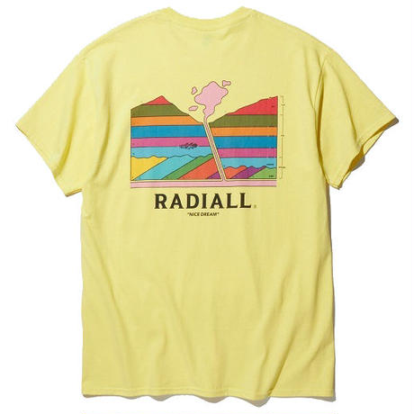 RADIALL  MANTLE - CREW NECK T-SHIRT S/S YELLOW