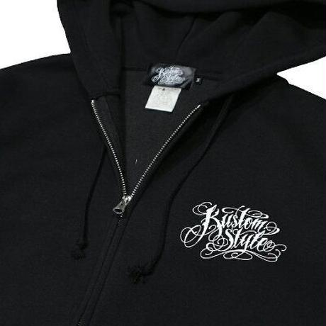 "KUSTOMSTYLE ""LA GIRL"" ZIP UP HOODIE BLACK"