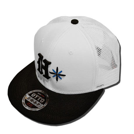 HARDEE  TRADE MARK MESH CAP WHITE&BLACK