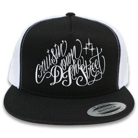 "KUSTOMSTYLE   ""CRUISIN DOWN THE STREET"" MESH CAP BLACK"