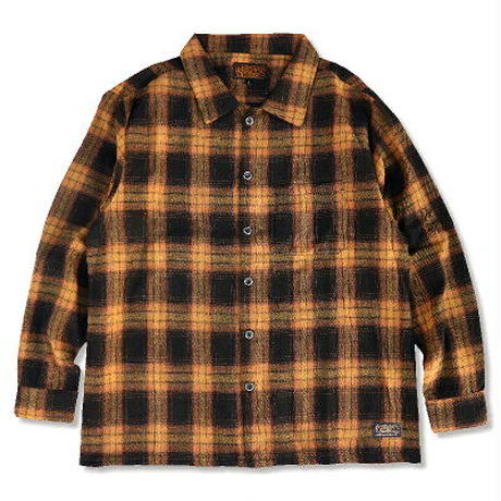"KUSTOMSTYLE ""FAITH"" CHECK LS SHIRTS BROWN"