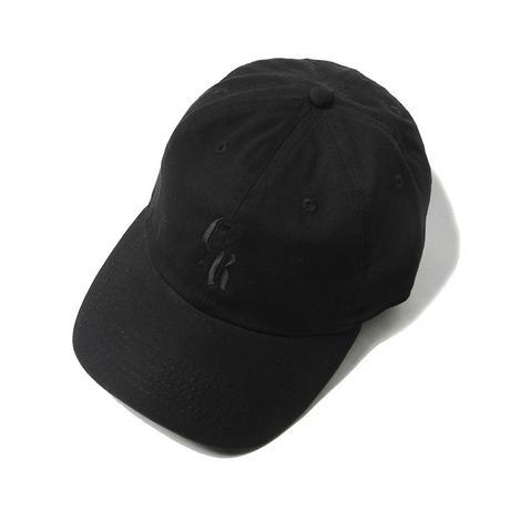 CUTRATE LOGO EMBROIDERY CAP BLACK