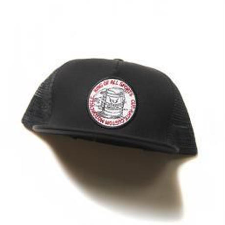 CUTRATE BEER WAPPEN MESH CAP BLACK.RED