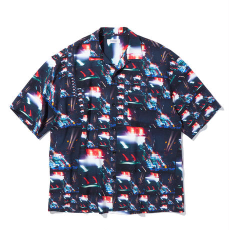 """RADIALL """"LOW AND SLOW"""" OPEN COLLARED SHIRTS S/S"""