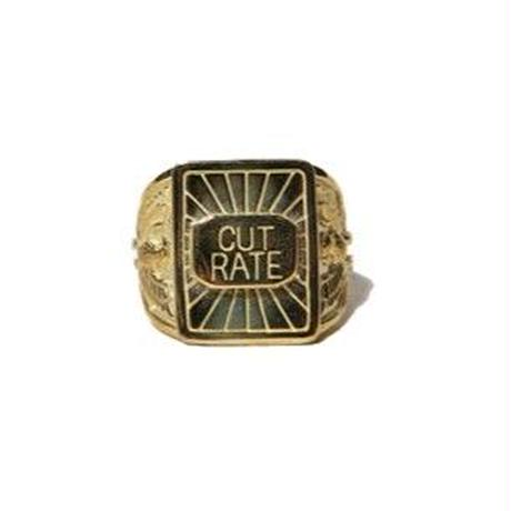CUT RATE BRASS LOGO RING MADE BY LARRY SMITH BRASS CR-16AW124