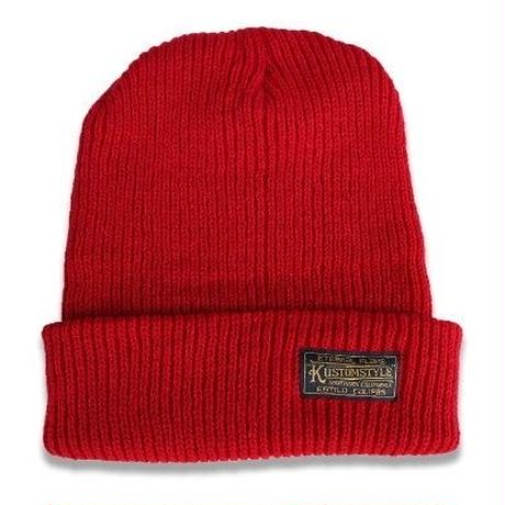 "KUSTOMSTYLE  ""ETERNAL FLAME"" BEANIE RED"