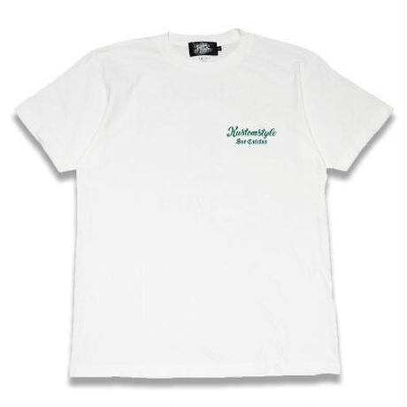"KUSTOMSTYLE ""CACTUS SUR CALIFAS"" TEE WHITE/GREEN"