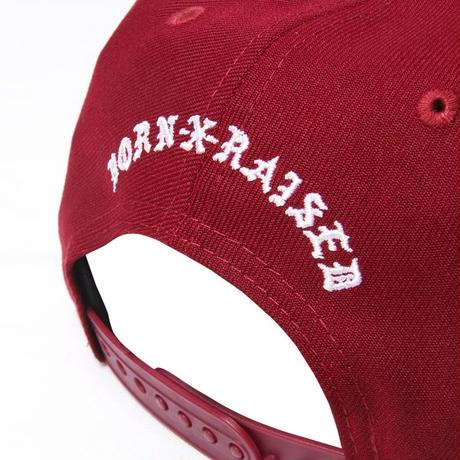 BORN X RAISED IMMACULATE HEART STRAP BACK RED