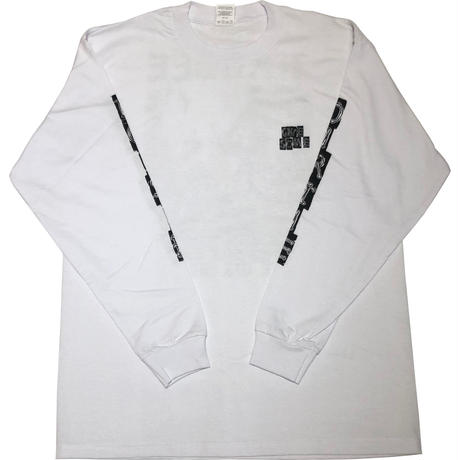 HARDEE THE NOISE L/S TEE WHITE
