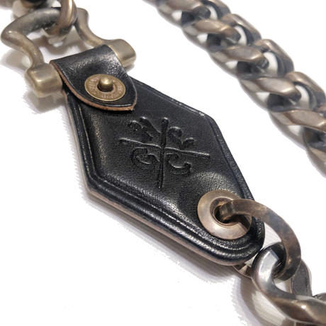 Hardee×GARNET LEATHER WALLET CHAIN BLACK(FAT)