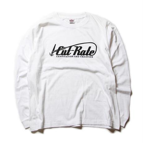 CUTRATE LOGO L/S T-SHIRT WHITE