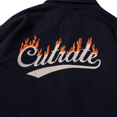 CUTRATE FLAME LOGO COTTON COACH JACKET