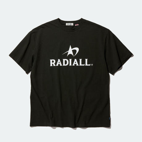 RADIALL LOGOTYPE-CREW NECK T-SHIRT S/S BLACK