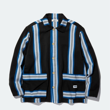 RADIALL AZTEC-REGULAR COLLARED SHIRT L/S BLACK