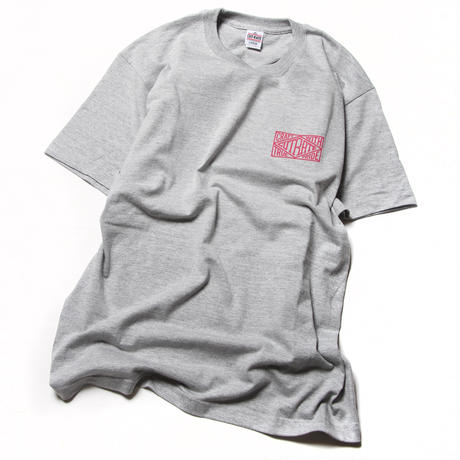 CUTRATE BOX LOGO T-SHIRT GRAY