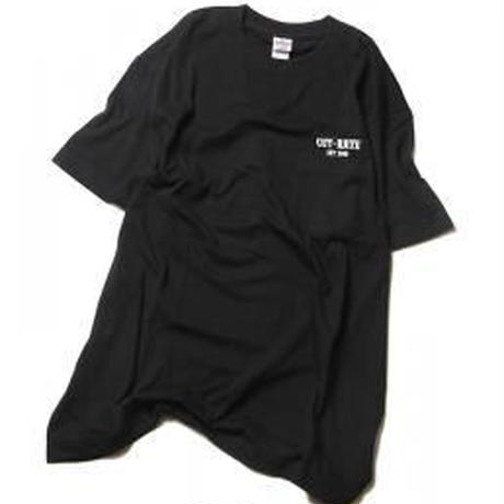 CUTRATE LOGO POCKET T-SHIRT BLACK