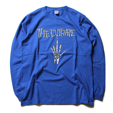 CUTRATE BONE FINGER L/S T-SHIRT ROYAL BLUE