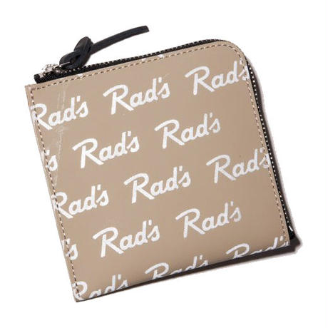 RADIALL RAD'S - ZIP SQUARE WALLET BEIGE