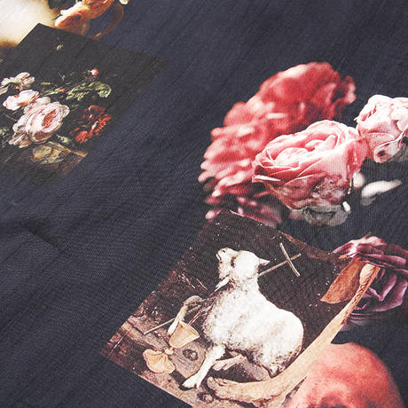 BORN X RAISED LAMB OF GOD PATTERN SHIRT BLACK #38201