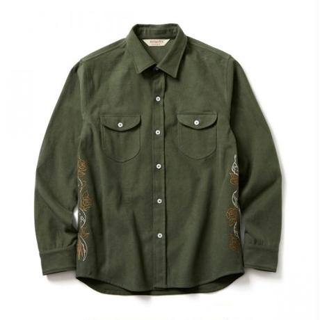 SOFTMACHINE FATE SHIRTS FLANNEL SHIRTS OLIVE