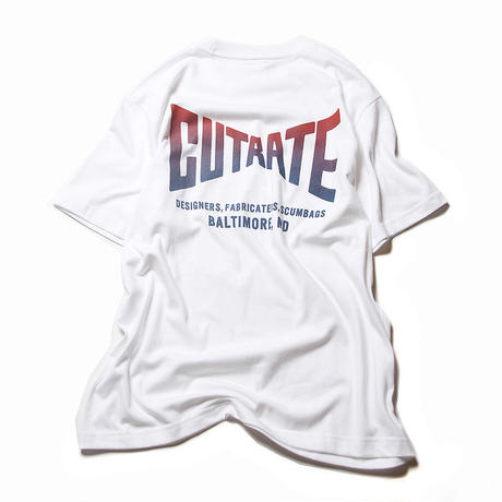 CUTRATE GRADATION LOGO T-SHIRT WHITE