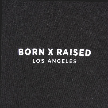 BORN X RAISED MINI CORPORATE TEE BLACK #34601