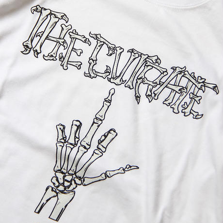 CUTRATE BONE FINGER L/S T-SHIRT WHITE