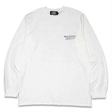 "KUSTOMSTYLE ""XII"" LONG SLEVE TEE WHITE"