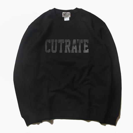 CUTRATE LOGO CREW NECK SWEAT BLACK
