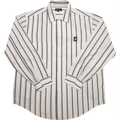 HARDEE STRIPE L/S SHIRTS WHITE