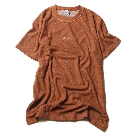 CUTRATE PILE T-SHIRT BROWN