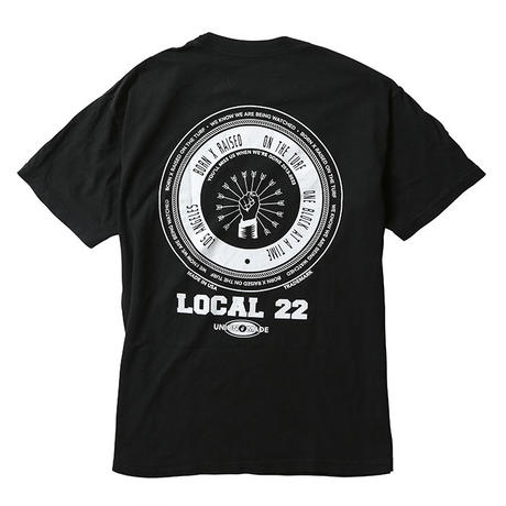 BORN X RAISED LOCAL 22 TEE  BLACK