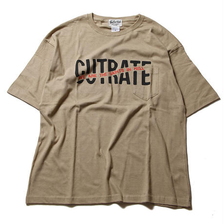 CUTRATE BIG SIZE LOGO POCKET T-SHIRT BEIGE