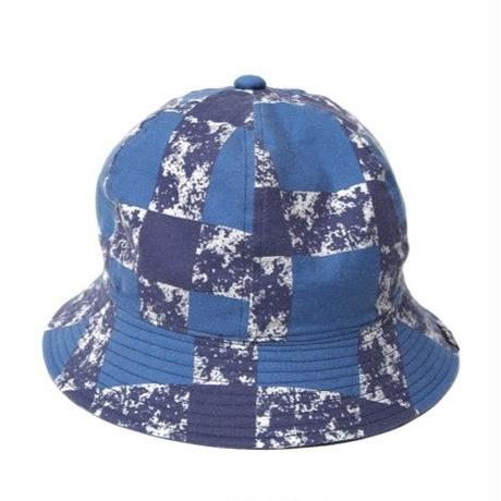 CUTRATE PRINT CHECK METLO HAT BLUE CR-16S033
