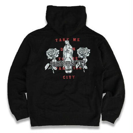 "KUSTOMSTYLE  ""PARADISE CITY"" PULLOVER HOODIE BLACK"
