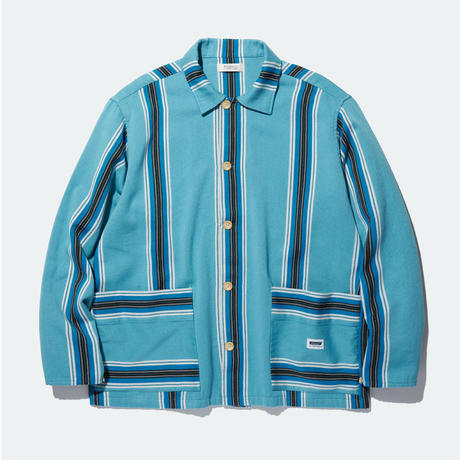 RADIALL AZTEC-REGULAR COLLARED SHIRT L/S BLUE