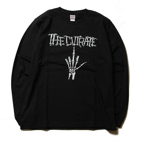 CUTRATE BONE FINGER L/S T-SHIRT BLACK