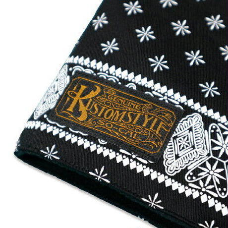 KUSTOMSTYLE  BANDANA NECK WARMER BLACK/WHITE