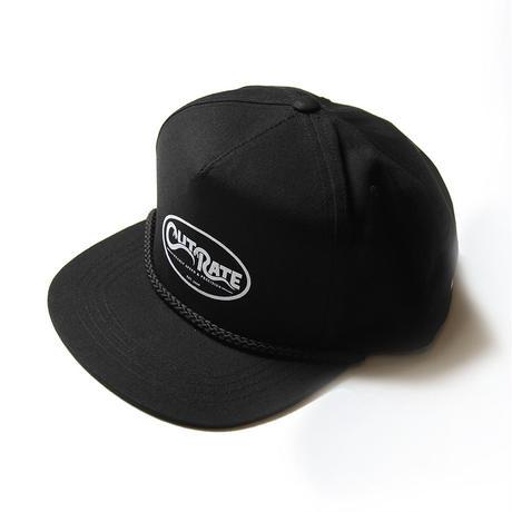CUTRATE SNAKE LOGO PRINT TRUCKER CAP BLACK
