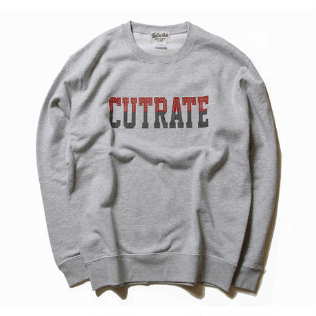 CUTRATE LOGO CREW NECK SWEAT GRAY