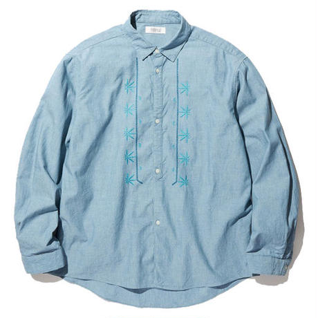 RADIALL FIESTA - REGULAR COLLARED SHIRT L/S INDIGO