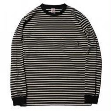 CUTRATE  BORDER POCKET L/S T-SHIRT WHITE 18AW025
