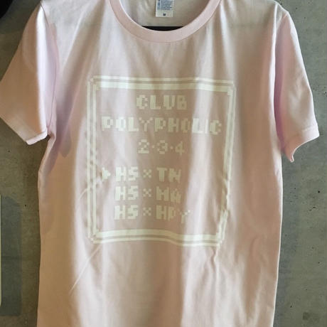 CLUB  POLYPHOLIC 2.3.4 Tシャツ (Baby pink)