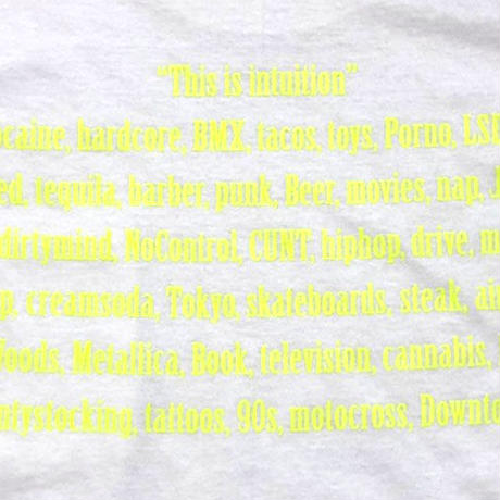 intuition Pocket T/SH (WHT/N.YEL)