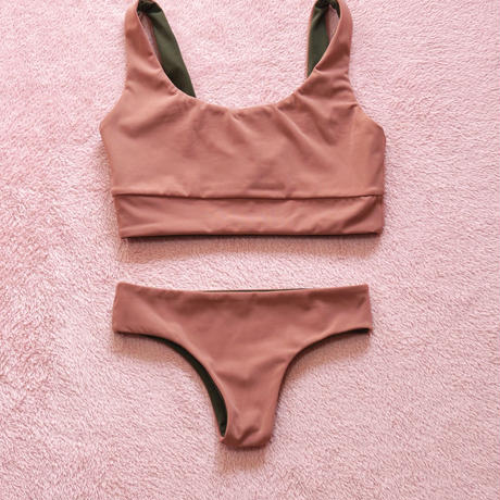 Maybe Pink&Olive Cheeky Set